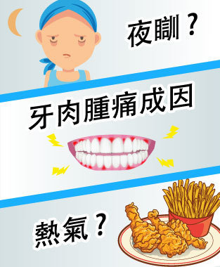牙肉腫痛  迷思