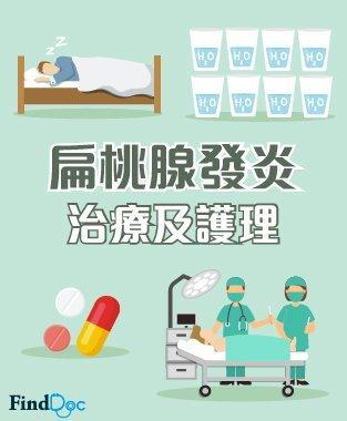 扁桃腺發炎 治療及護理