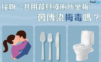 接吻、共用餐具或廁所坐板會傳染梅毒嗎?
